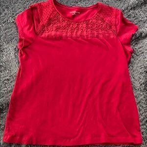Red Croft & Barrow blouse